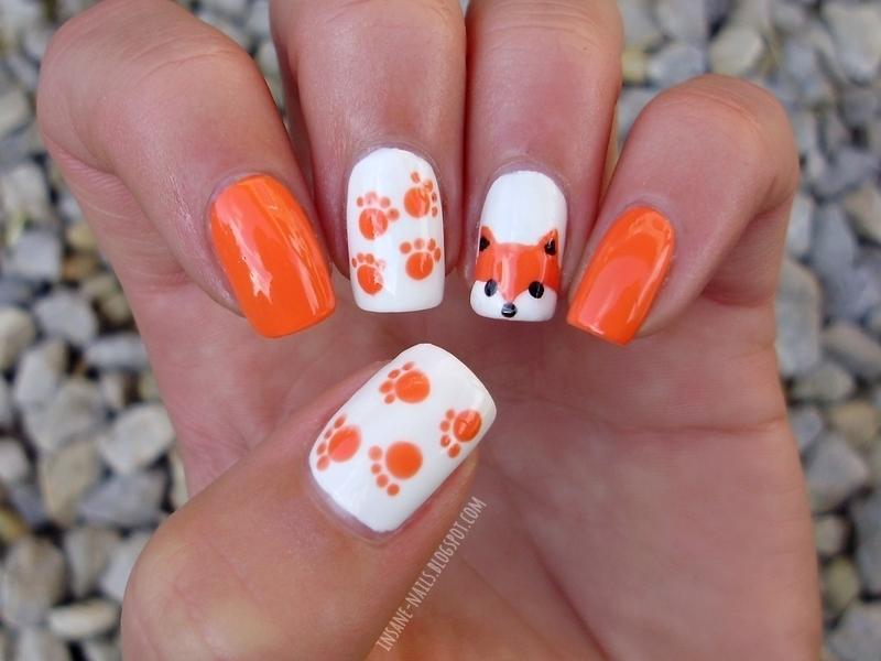 unhas-decoradas-raposa
