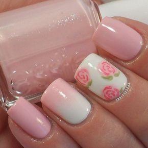 unhas decoradas rosas 2