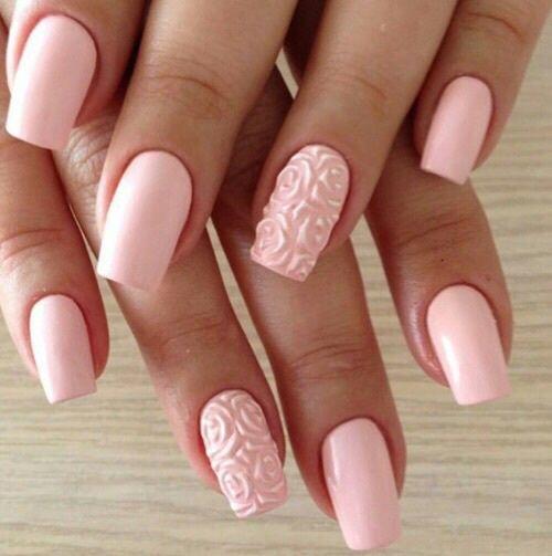 unhas decoradas rosas pink
