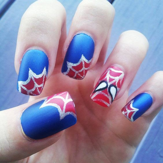 unhas decoradas spider man 3