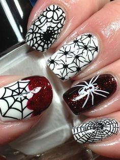 unhas decoradas spider man 6