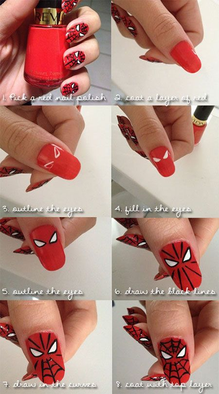 unhas decoradas spider man 7