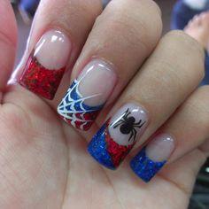unhas decoradas spider man 8