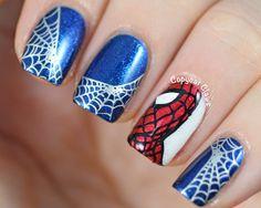 unhas decoradas spider man 9
