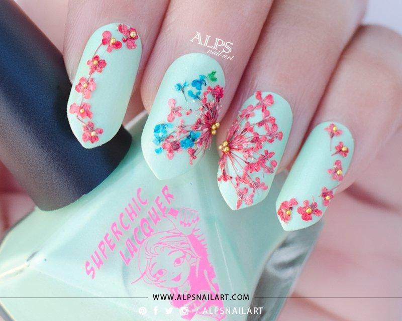 unhas flores decoradas
