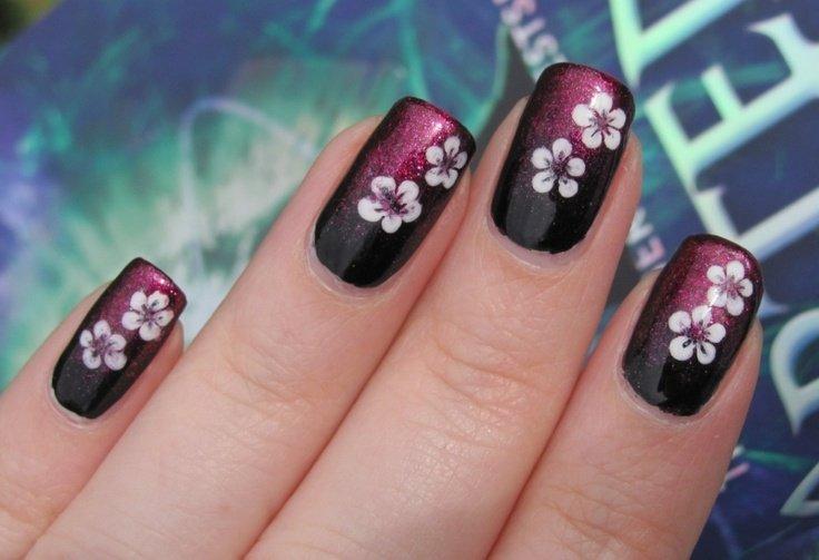 unhas-gradientes-com-flores