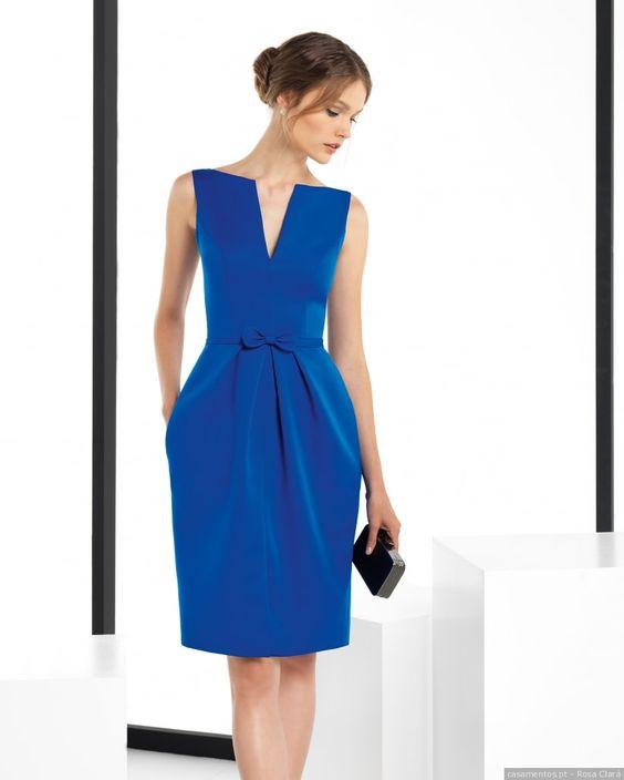 vestido azul casamento