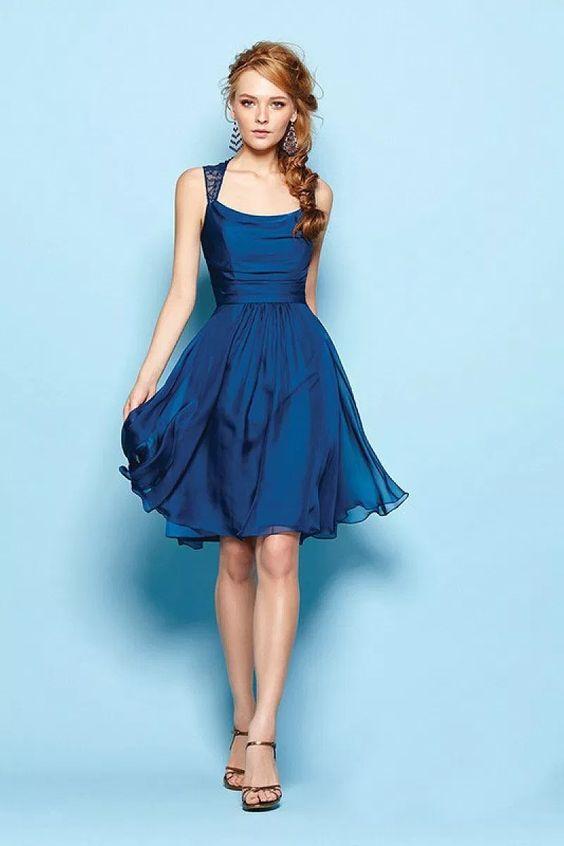 vestido azul curto 1