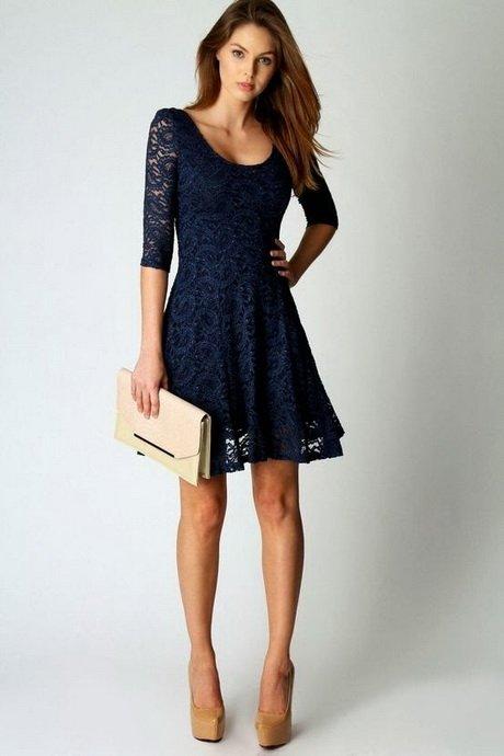 Vestido azul simples para formatura