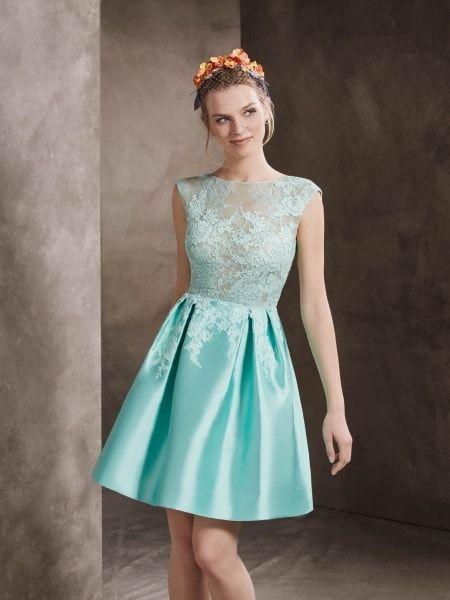 vestido azul festa claro