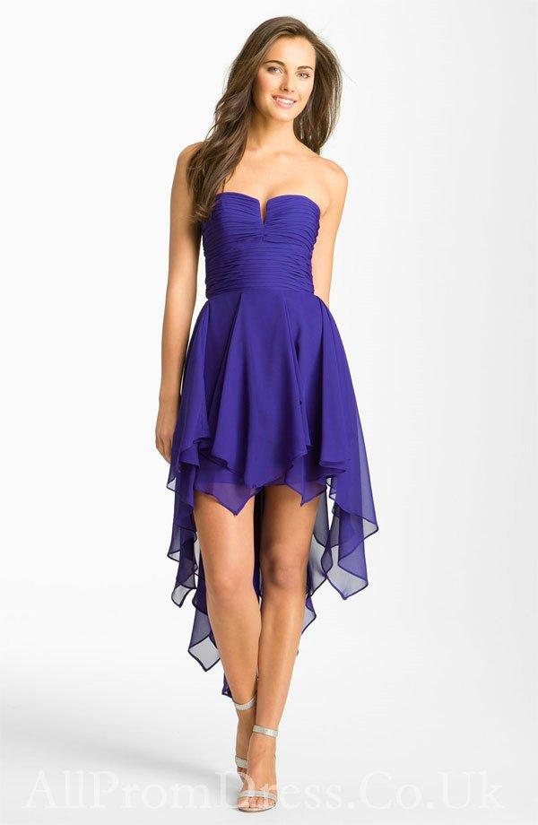 vestido azul para formatura