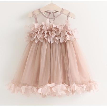 vestido batizado rose