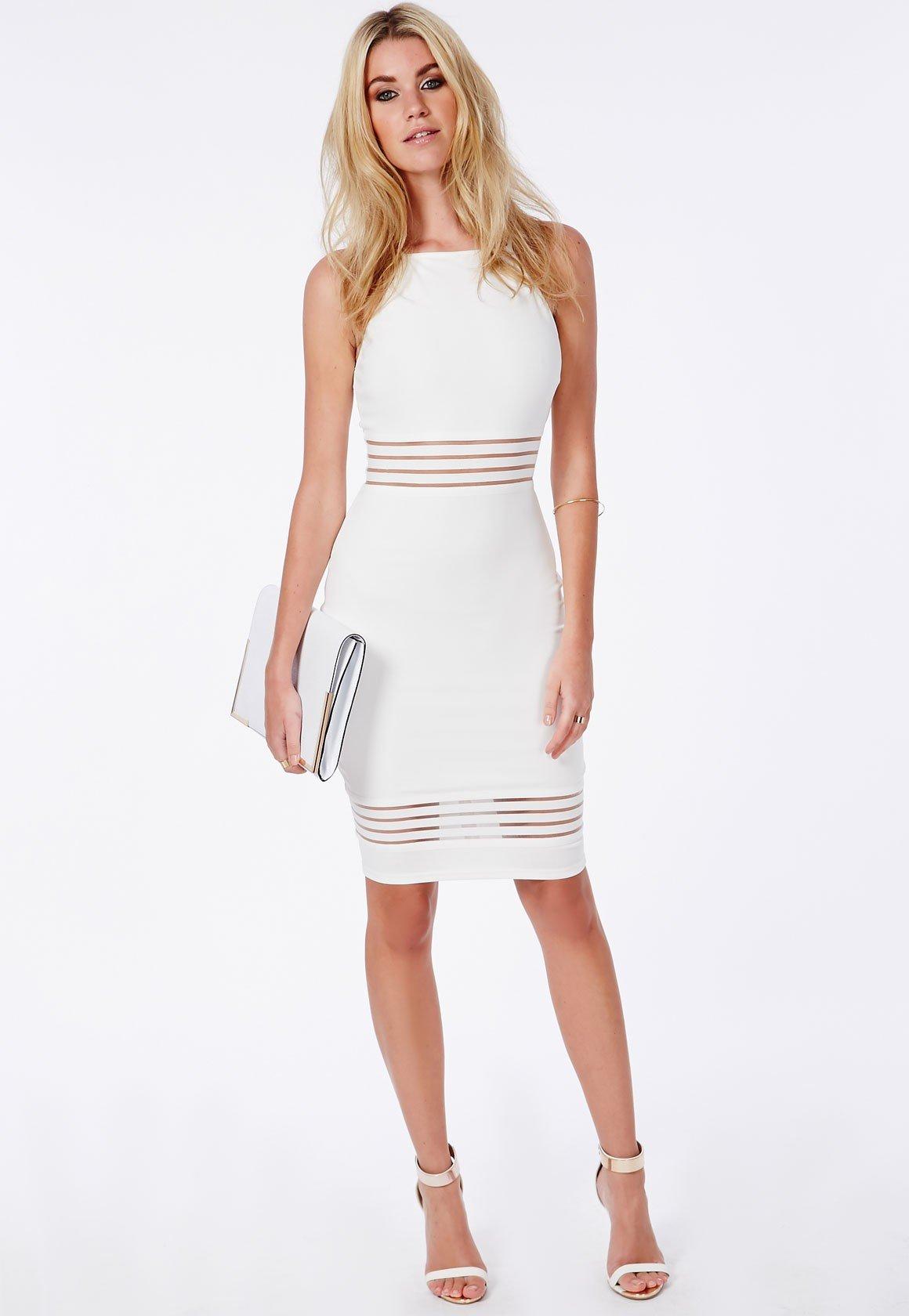 vestido branco para o trabalho