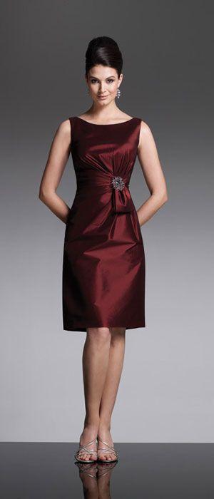 vestido cetim festa marron