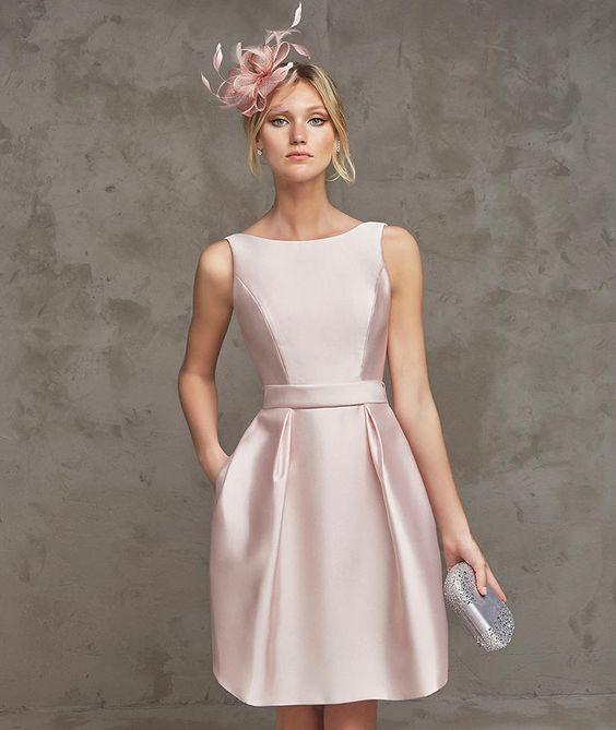 vestido cetim rosa