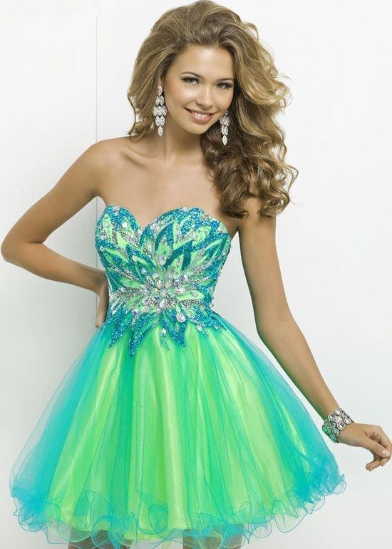 vestido colorido para formatura
