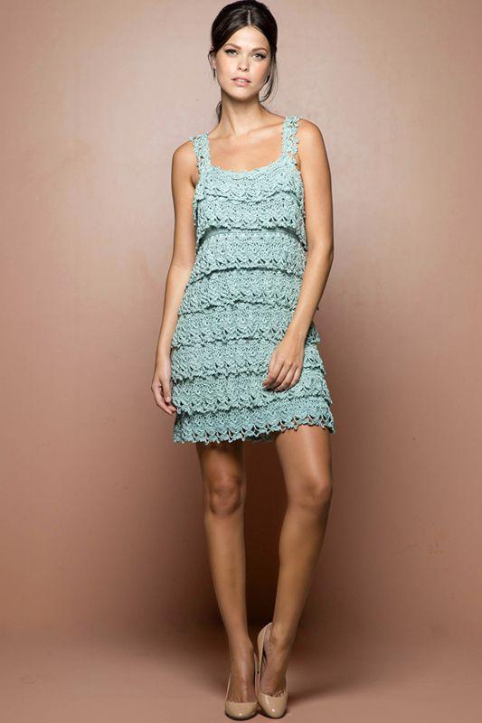 vestido croche curto azul 2