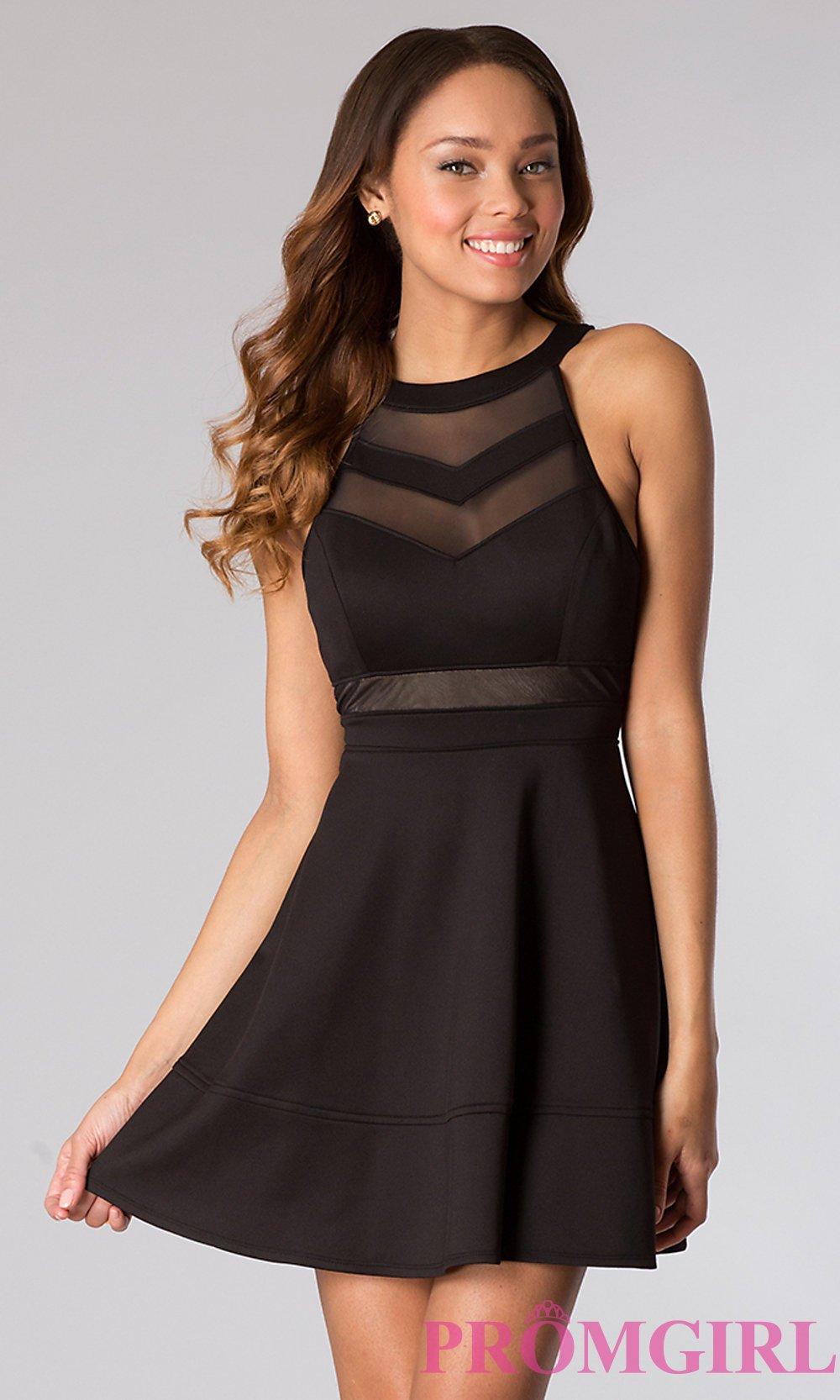 vestido curto em preto
