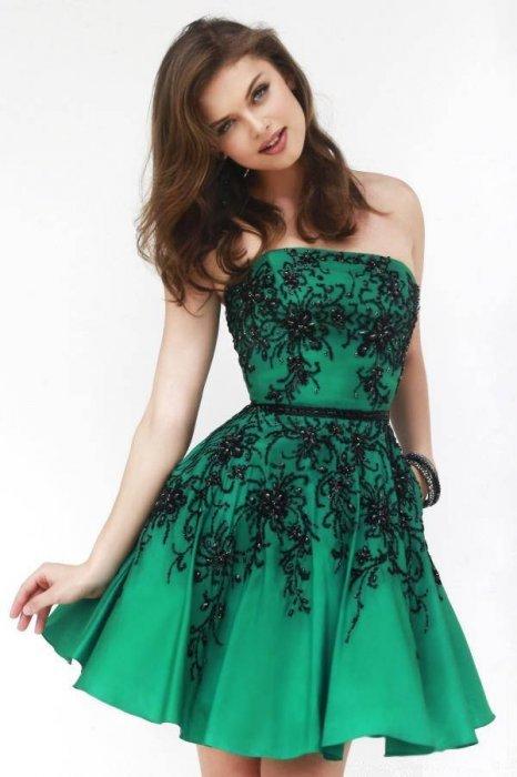 vestido curto em verde