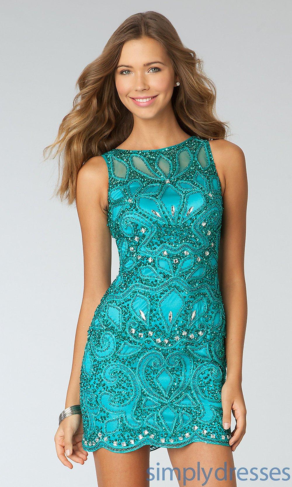 vestido curto esmeralda