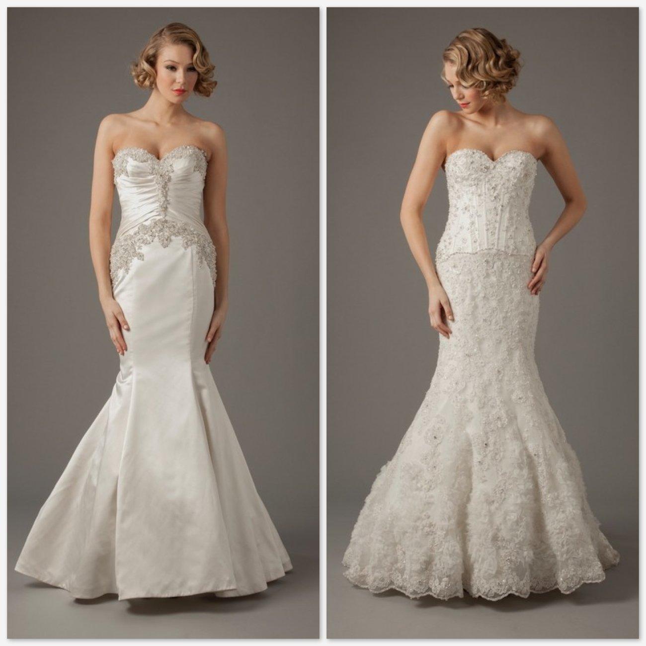 vestido de noiva decote tomara que caia Mark Zunino