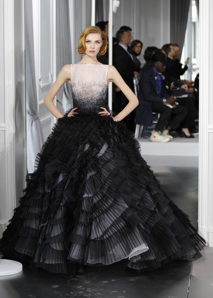 vestido de noiva preto degrade