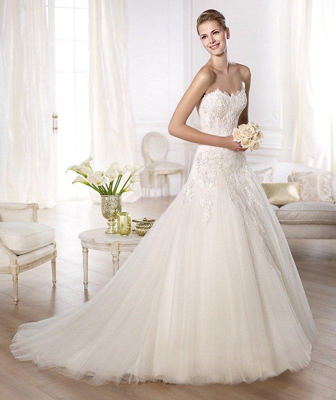 vestido de noiva tomara que caia pronovias