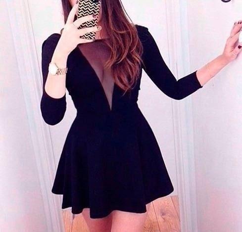 vestido decote tule 1
