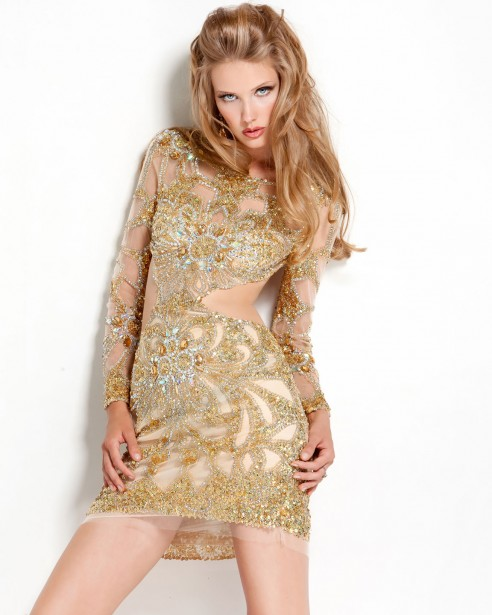 vestido elegante pedrarias