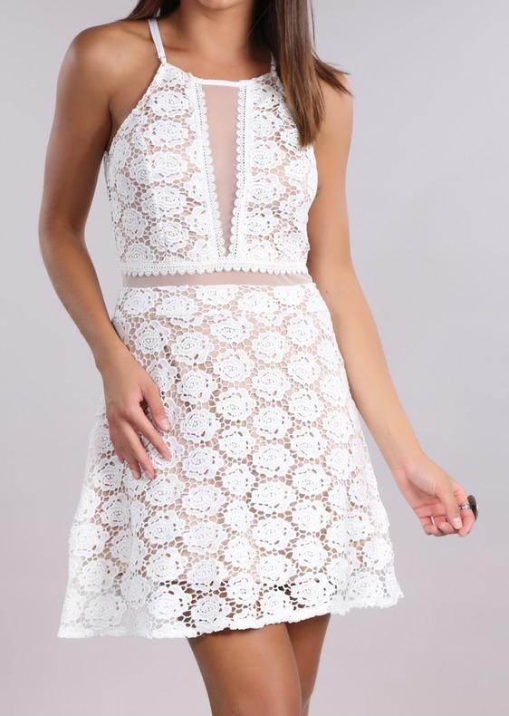 vestido guipir branco