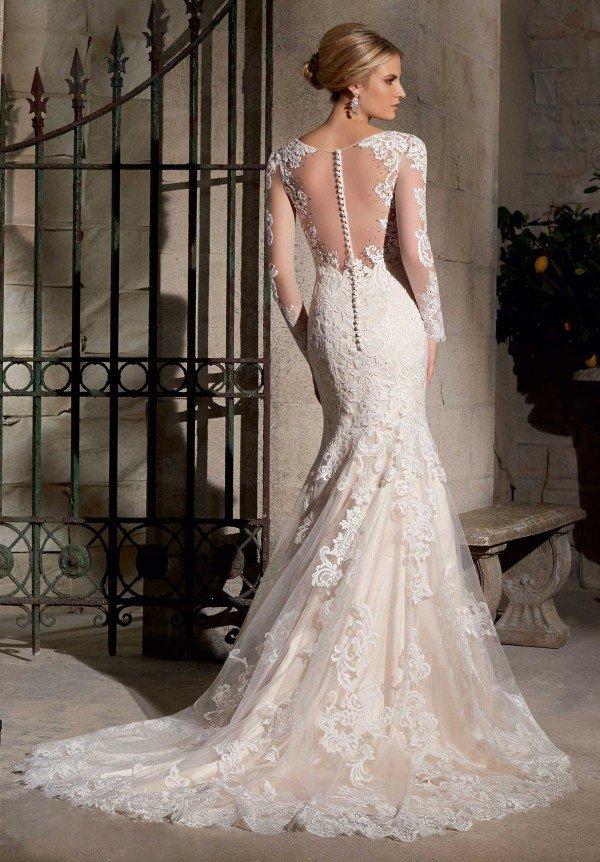 vestido justo longo para casamento