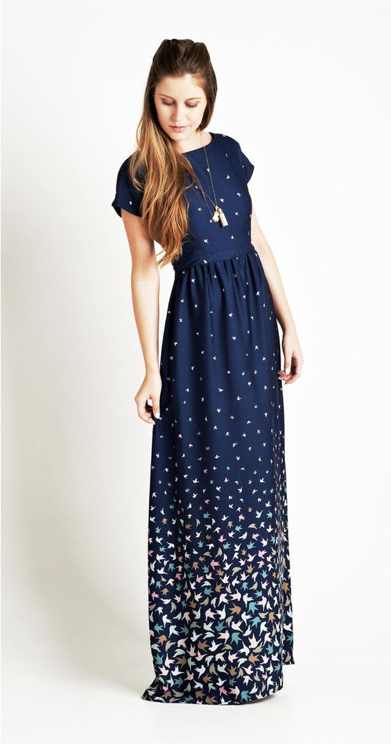 vestido longo verao azulao