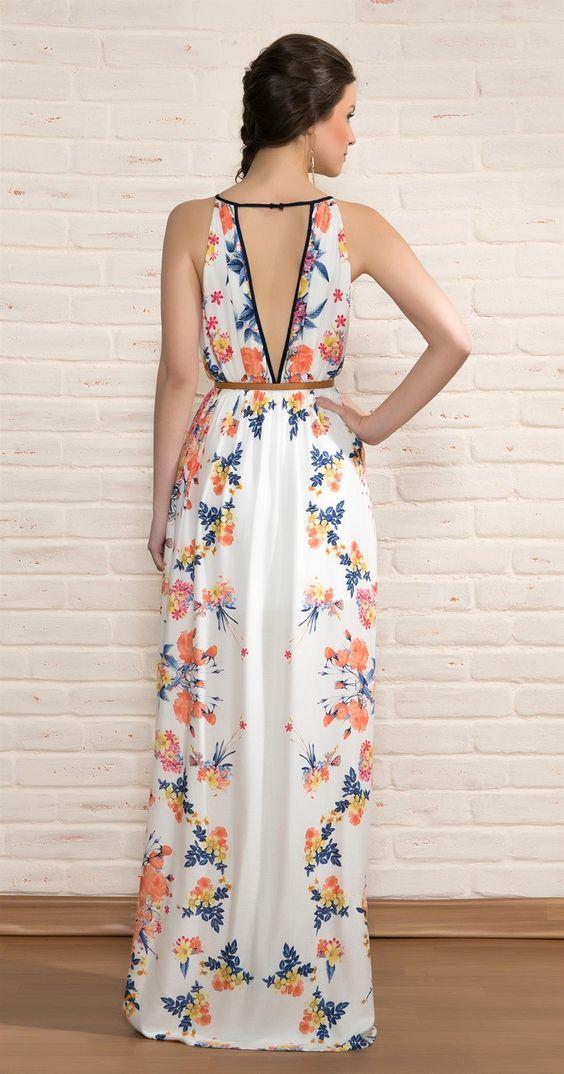 vestido longo verao costas abertas