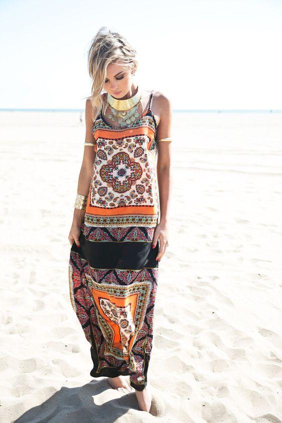 vestido longo verao etnico