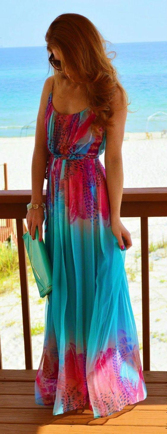 vestido longo verao festa praia casamento