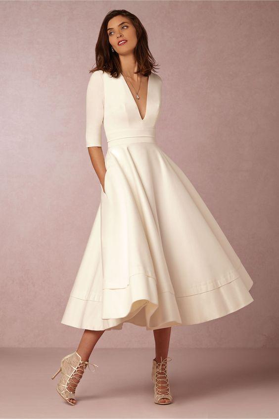 vestido midi simples