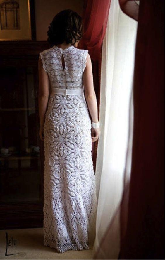 vestido noiva croche 1