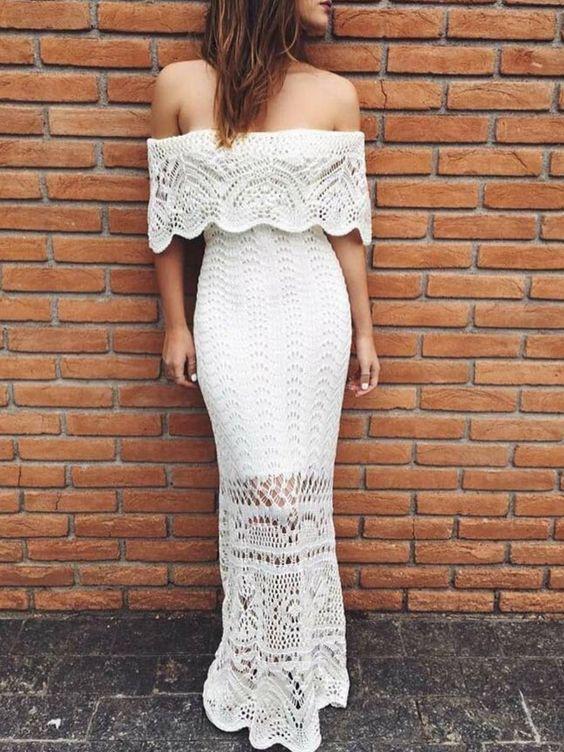vestido noiva croche ciganinha