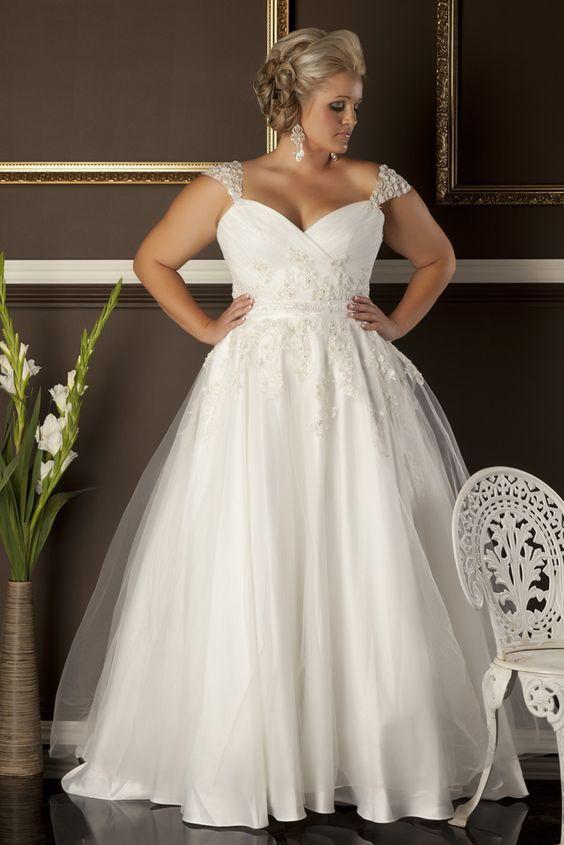 vestido noiva plus size