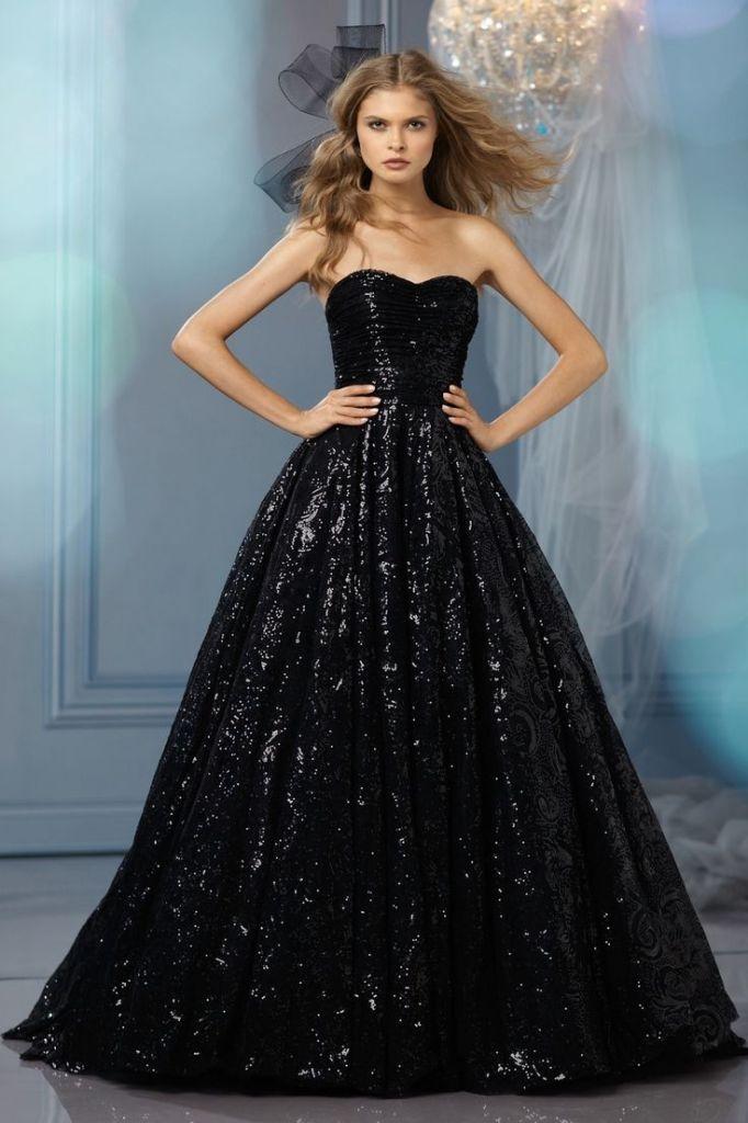 vestido-noiva-preto-com-brilhantes
