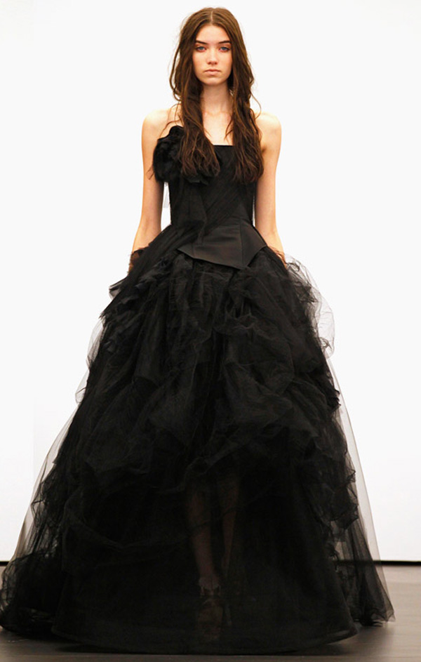 vestido noiva preto longo