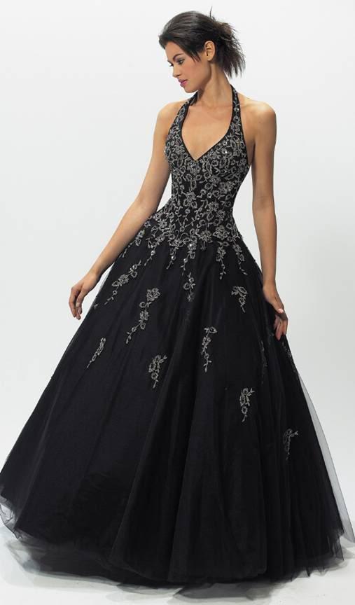 vestido noiva preto