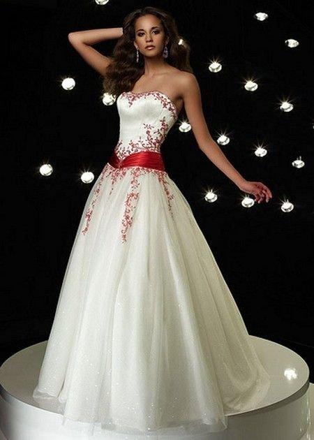 vestido noiva vermelho branco 1