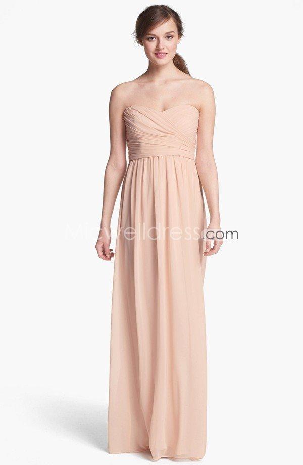 vestido nude comprido