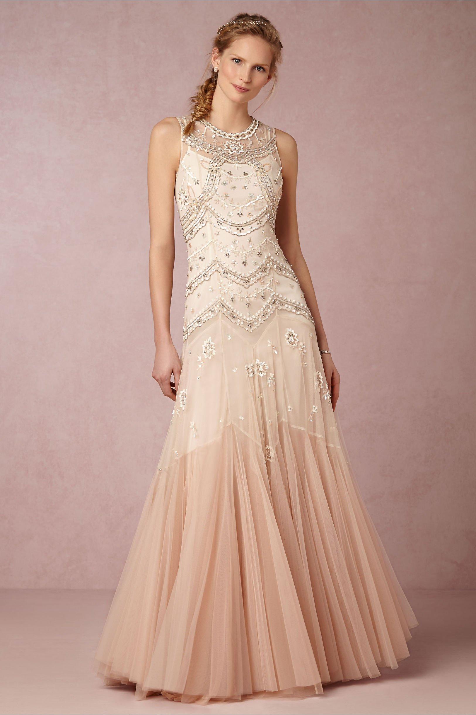 vestido nude vintage noiva