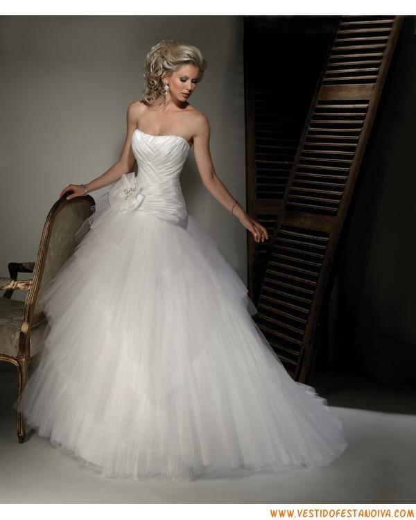 vestido para noiva tomara que caia
