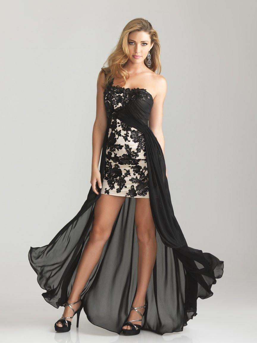 vestido preto e branco para formatura