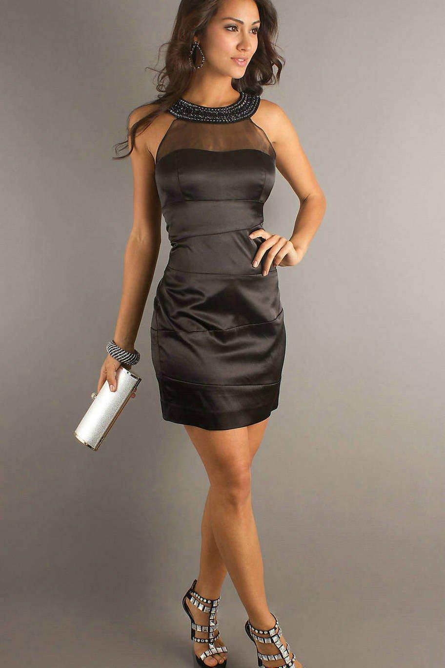 vestido preto elegante para formatura