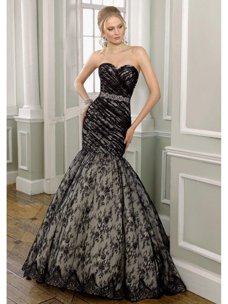 vestido preto noiva classico