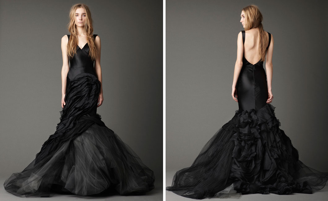 vestido preto para noiva
